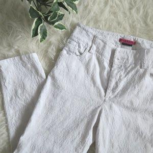 Alice + Olivia white patterned pants